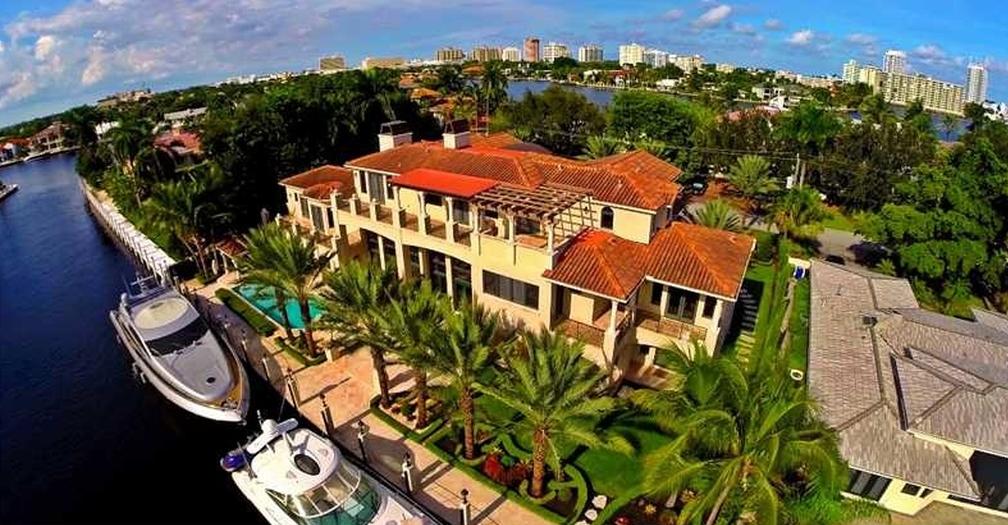 $9.25 Million Mediterranean Waterfront Mansion In Fort Lauderdale, FL
