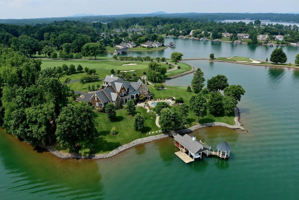 $25 Million Waterfront Estate In Penhook, VA With Its Own Country Club