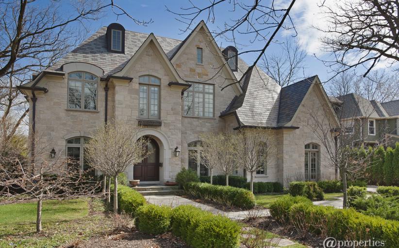 $3.395 Million French Inspired Brick & Stone Home In Glencoe, IL