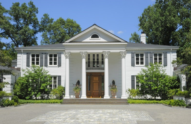 13,000 Square Foot Lakefront Georgian Brick Mansion In Greenwich, CT