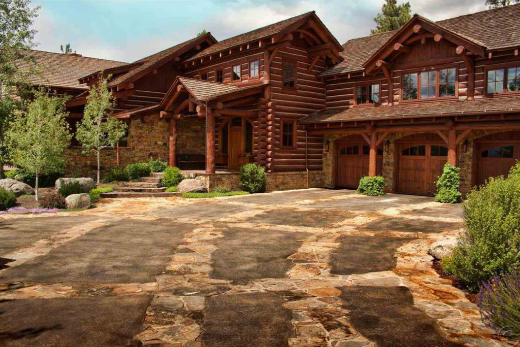 The tunken a 13 million custom pioneer log home in for Montana home builders