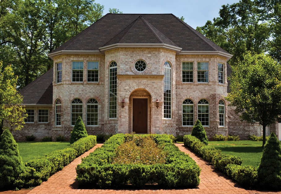 20 beautiful brick homes homes of the rich for Brick house plans with photos