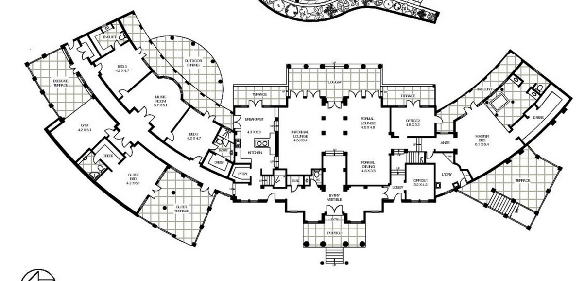 15 000 square foot mediterranean mansion in queensland for 15000 sq ft house plans