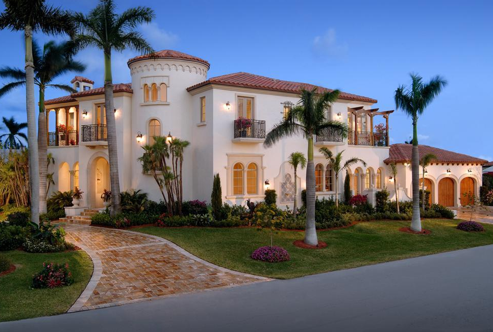 Million mediterranean home in delray beach fl for Florida estates for sale