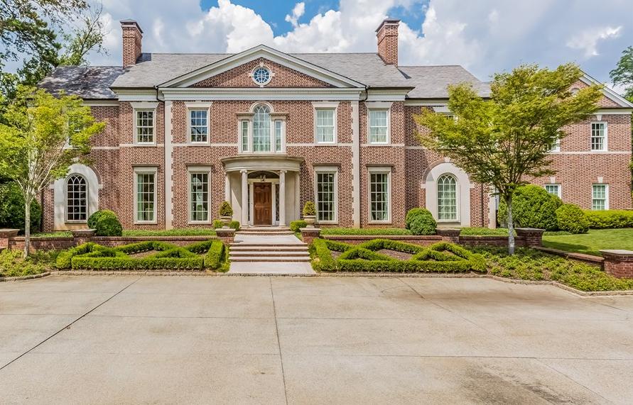 13,000 Square Foot Georgian Style Brick Mansion In Atlanta, GA
