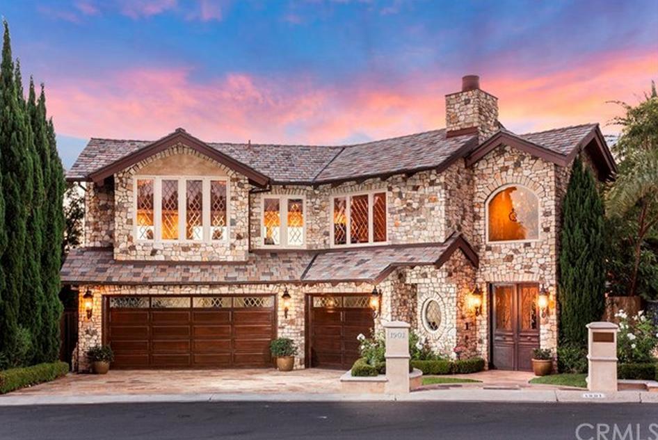 $8.9 Million Stone Mansion In Newport Beach, CA