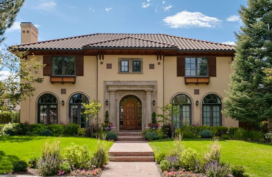 $2.1 Million Mediterranean Style Home In Denver, CO