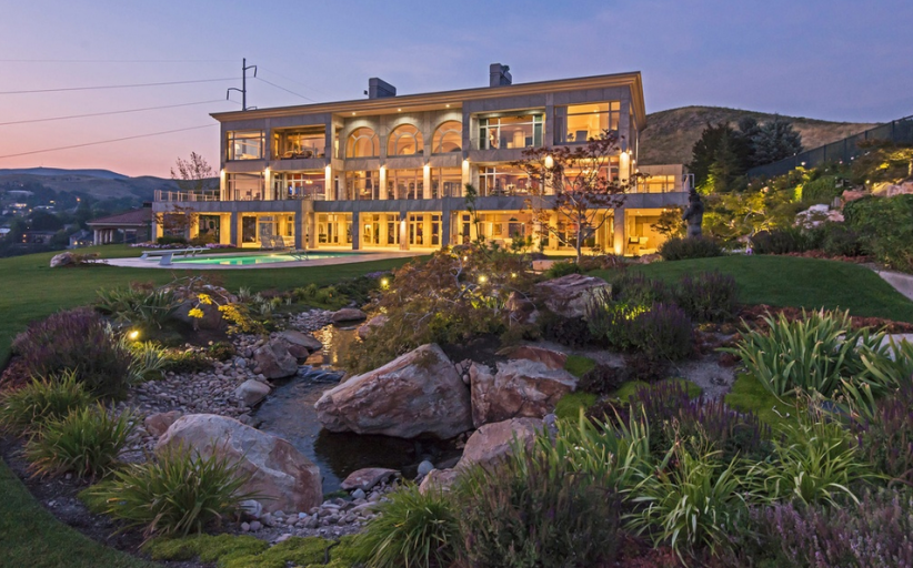 14,000 Square Foot Contemporary Mountaintop Mansion In Park City, UT