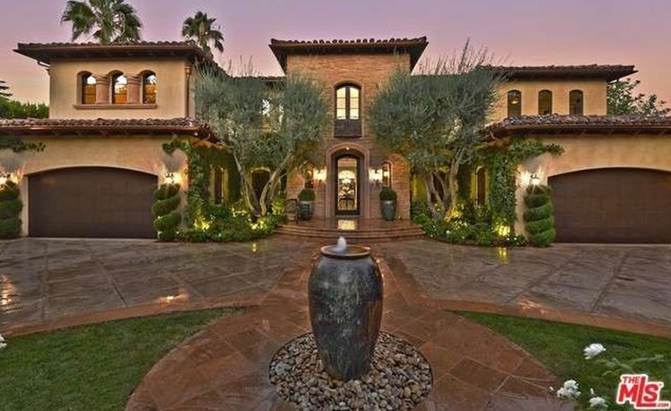 $5.799 Million Santa Barbara Style Mansion In Encino, CA