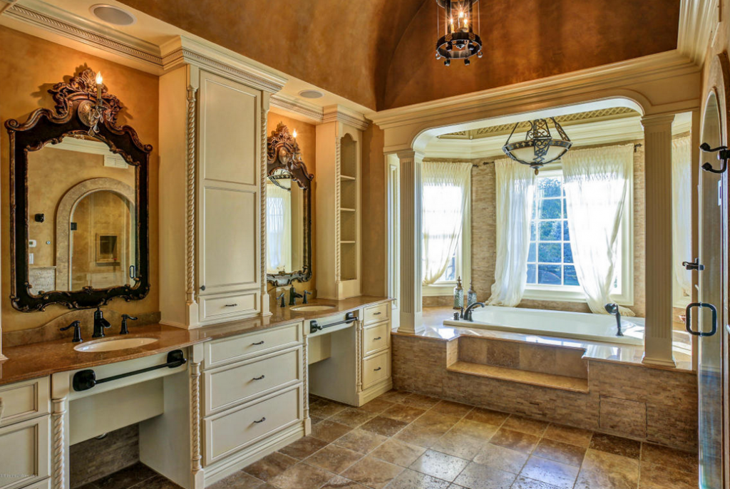 Million french inspired mansion in colts neck nj for Bathroom 75 million