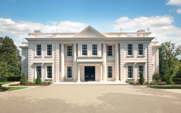 Silverwood House – A Newly Built Limestone Mansion In Surrey, England