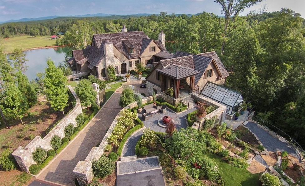 $5.495 Million Lakefront English Country Style Home In Six Mile, SC