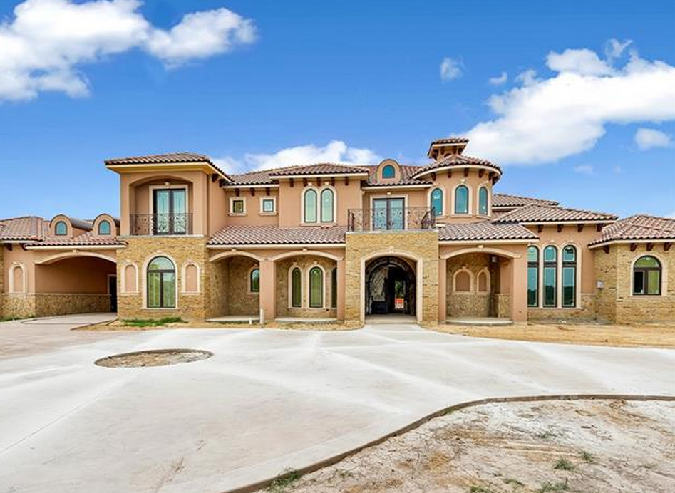 Million mediterranean stone stucco mansion in for Mediterranean stone houses