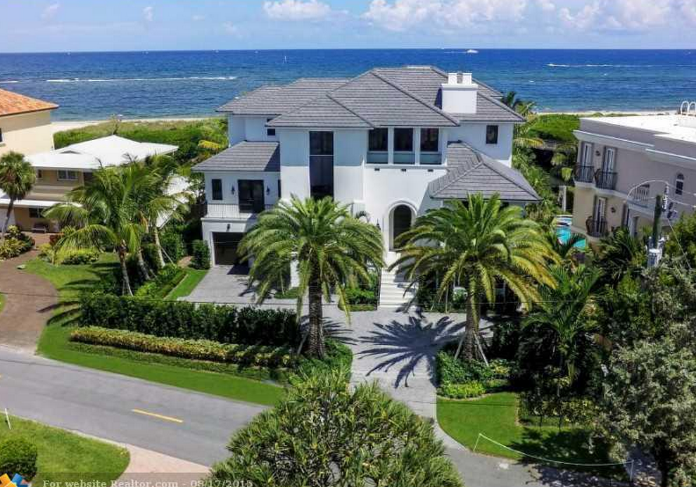 $8.95 Million Newly Built Oceanfront Mansion In Pompano Beach, FL