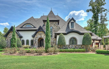 $3.49 Million Stone & Stucco Lakefront Home In Cornelius, NC