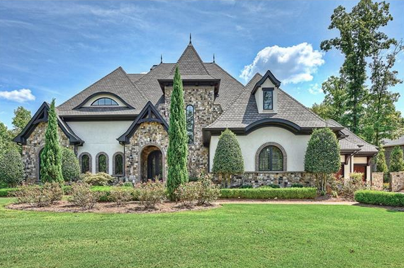 3 49 Million Stone Amp Stucco Lakefront Home In Cornelius
