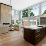 2-story Living Room & Gourmet Kitchen