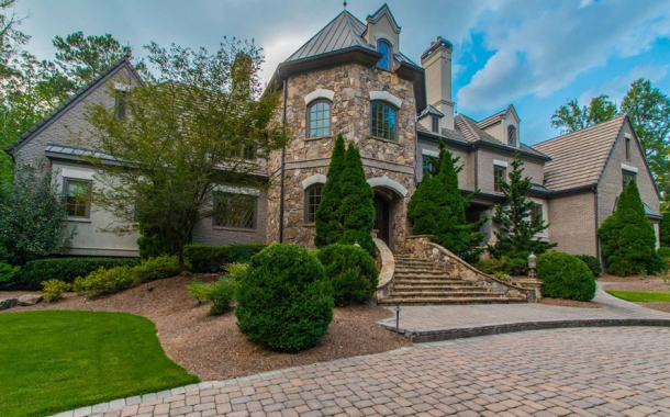 11,000 Square Foot Brick & Stone Mansion In Johns Creek, GA