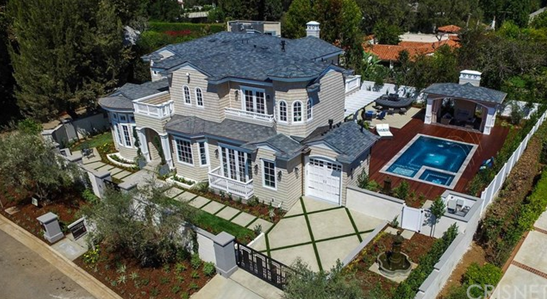 $9.8 Million Newly Built Colonial Revival Style Home In Los Angeles, CA