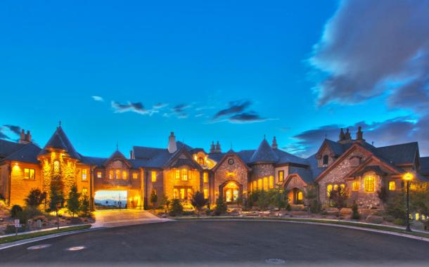 The Draper Castle – A 23,000 Square Foot Brick & Stone Mansion In Draper, UT