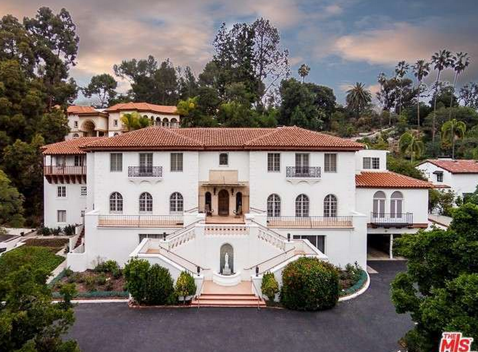 10 000 square foot spanish colonial revival mansion in los for Rich homes in california