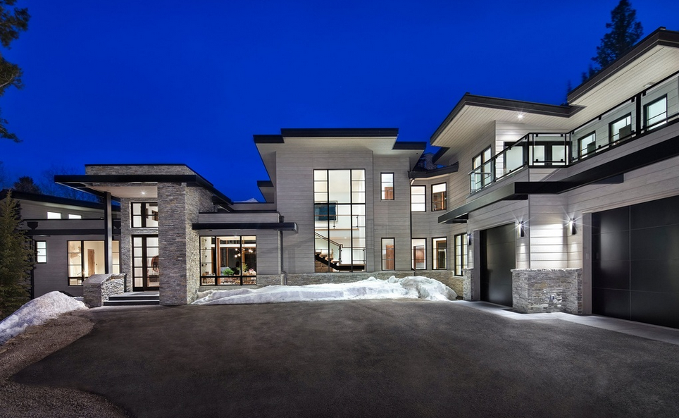 8 9 million newly built mountaintop contemporary mansion for Modern home design utah