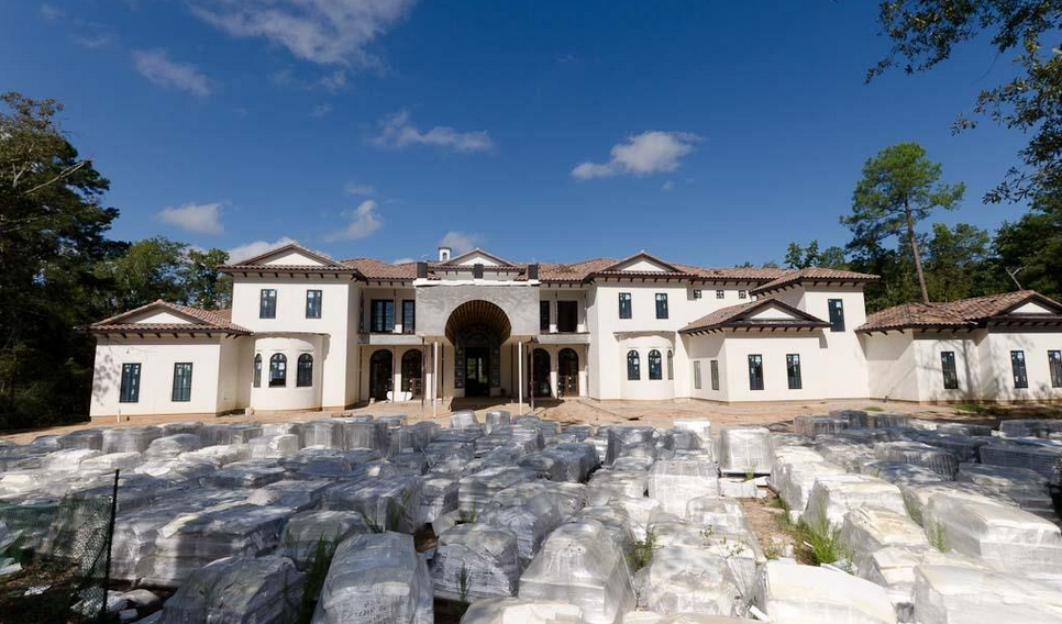 18,000 Square Foot Newly Built Mediterranean Mansion In The Woodlands, TX