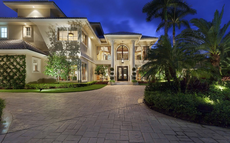 13,000 Square Foot European Inspired Waterfront Mansion In Boca Raton, FL