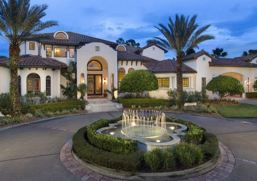 10,000 Square Foot Mediterranean Inspired Mansion In Longwood, FL