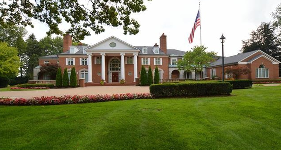 $12.7 Million Brick Colonial Mansion In Bloomfield Hills, MI