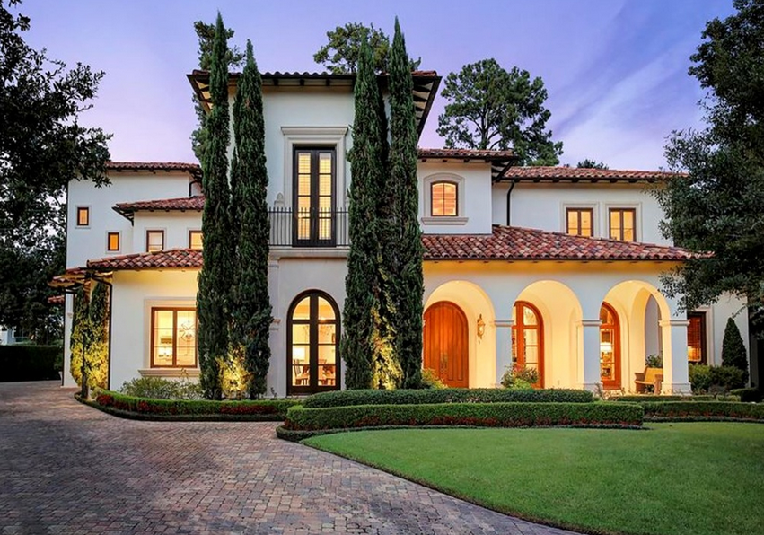 Million mediterranean mansion in houston tx Mediterranean style homes houston