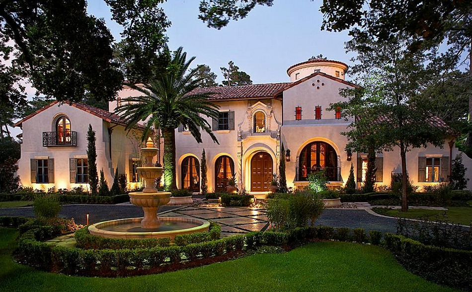 Million mediterranean mansion in houston tx homes Mediterranean style homes houston