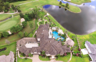 13,000 Square Foot Waterfront Mediterranean Mansion In Spring, TX
