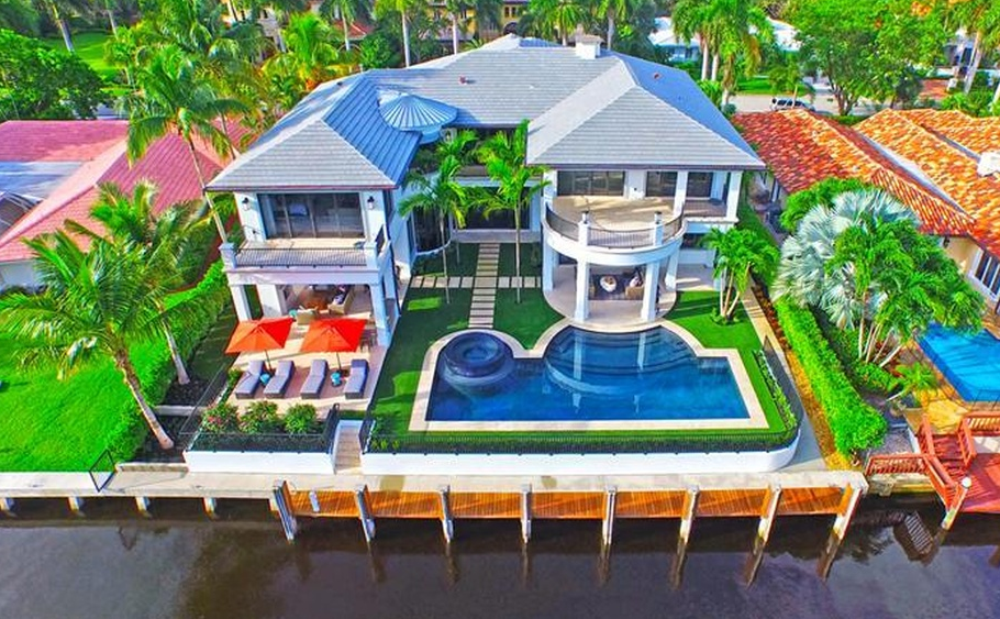 $9.395 Million Newly Built Waterfront Mansion In Boca Raton, FL
