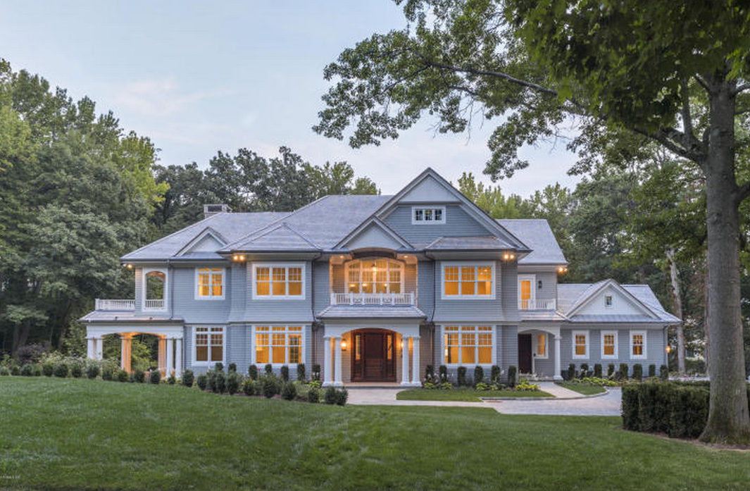 $6.65 Million Newly Built Federal Style Shingle Home In Riverside, CT