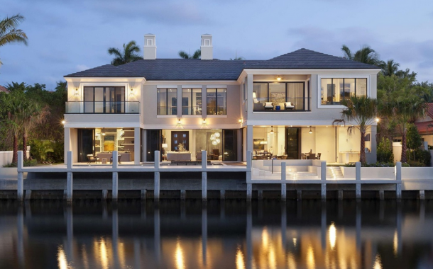 $8.95 Million Newly Built Contemporary Waterfront Mansion In Boca Raton, FL