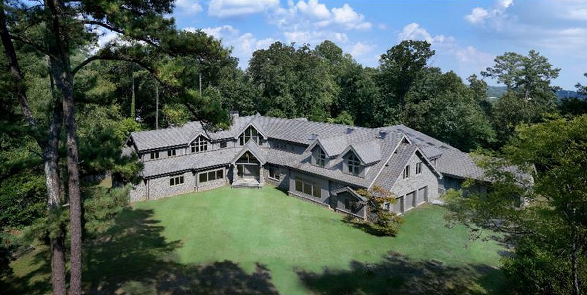 24,000 Square Foot Newly Built Unfinished Mega Mansion In Atlanta, GA