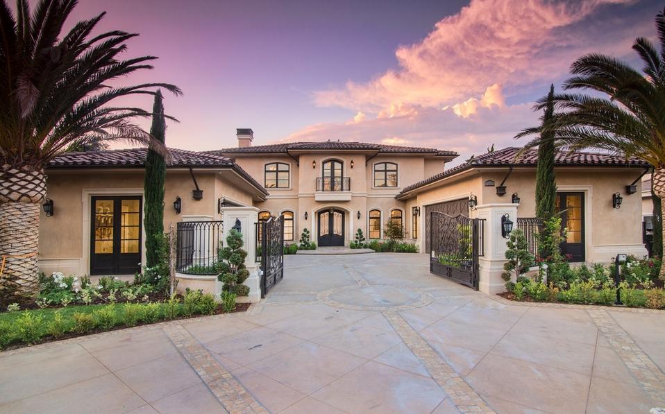 7 58 Million Newly Built Mediterranean Mansion In Arcadia