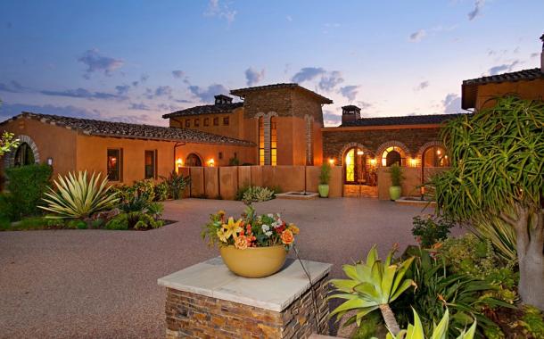 12,000 Square Foot Mediterranean Mansion In Rancho Santa Fe, CA Re-Listed