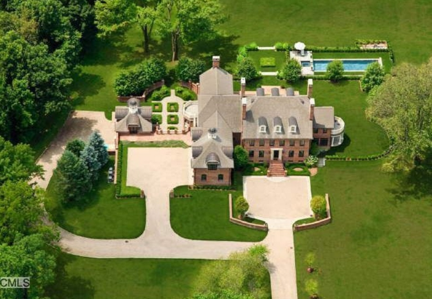 $5.9 Million Brick Georgian Colonial Mansion In Ridgefield, CT