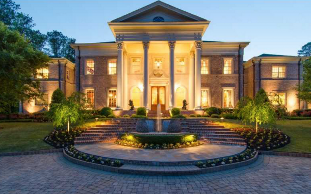 23,000 Square Foot Stately Brick Colonial Mansion In Roswell, GA
