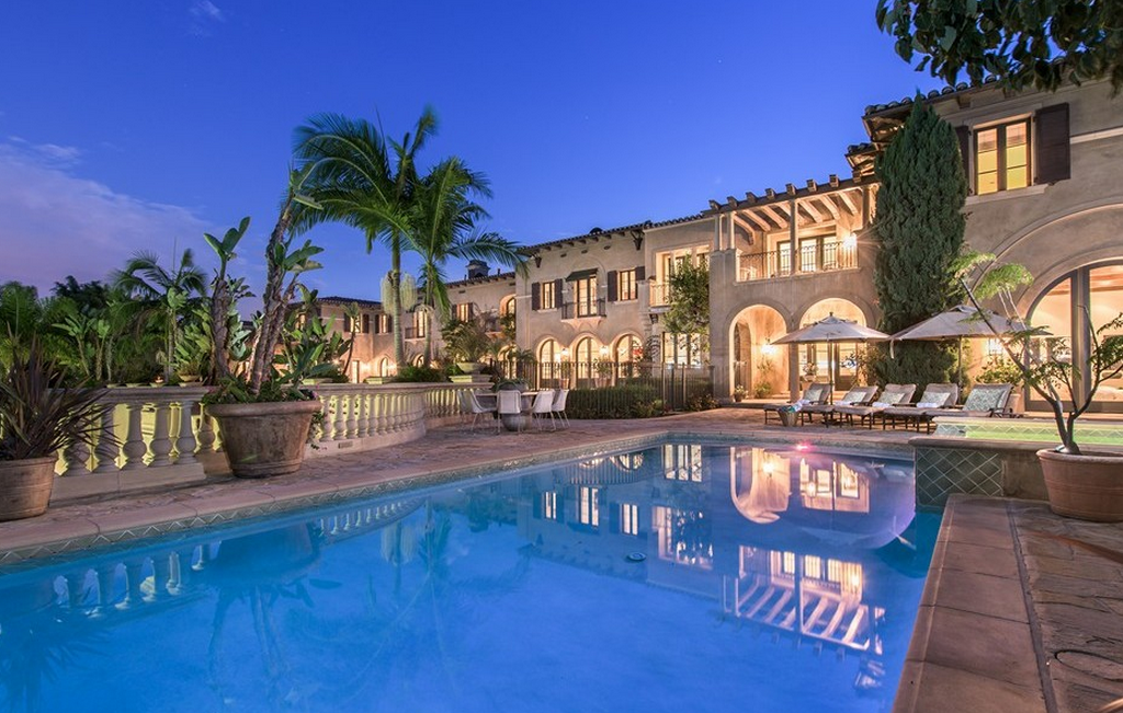 45 million newly listed 20 000 square foot mediterranean for California million dollar homes