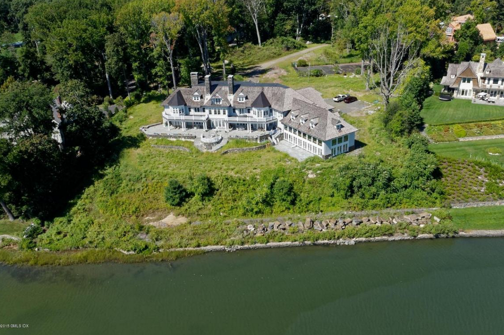 $28 Million Newly Built Shingle & Stone Waterfront Mansion In Riverside, CT