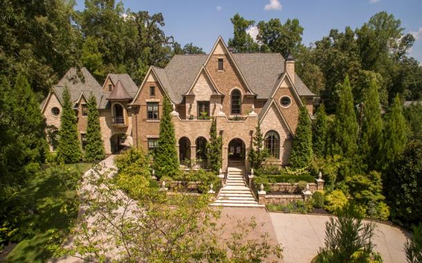 14,000 Square Foot French Inspired Brick & Stone Mansion In Atlanta, GA
