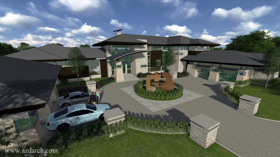 $6.5 Million Contemporary Lakefront Mansion To Be Built In West Bloomfield Township, MI