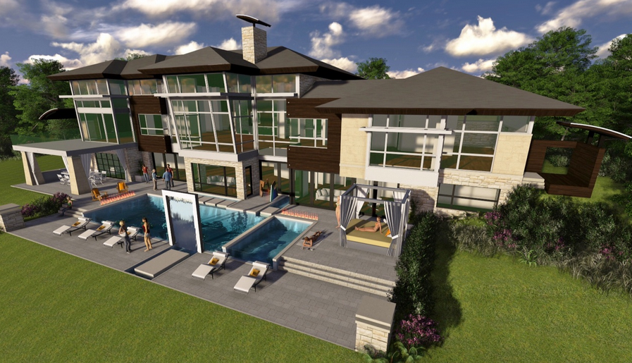 6 5 million contemporary lakefront mansion to be built in - House of bedrooms bloomfield hills mi ...