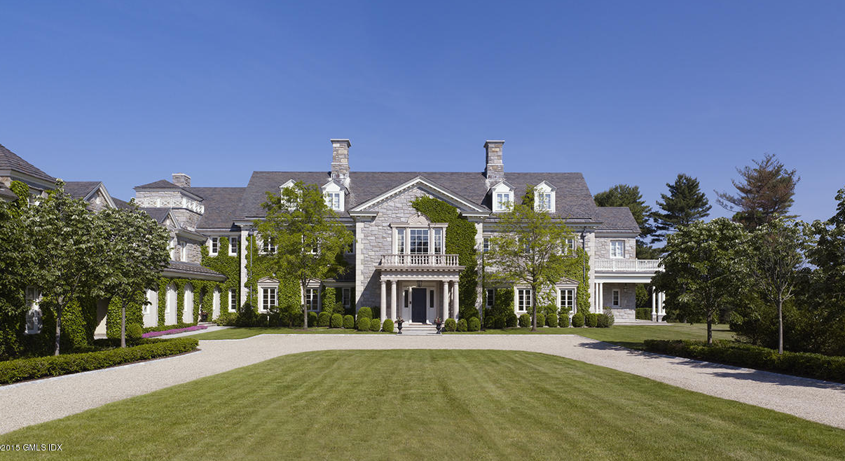 35 Million Georgian Colonial Stone Mansion In Greenwich