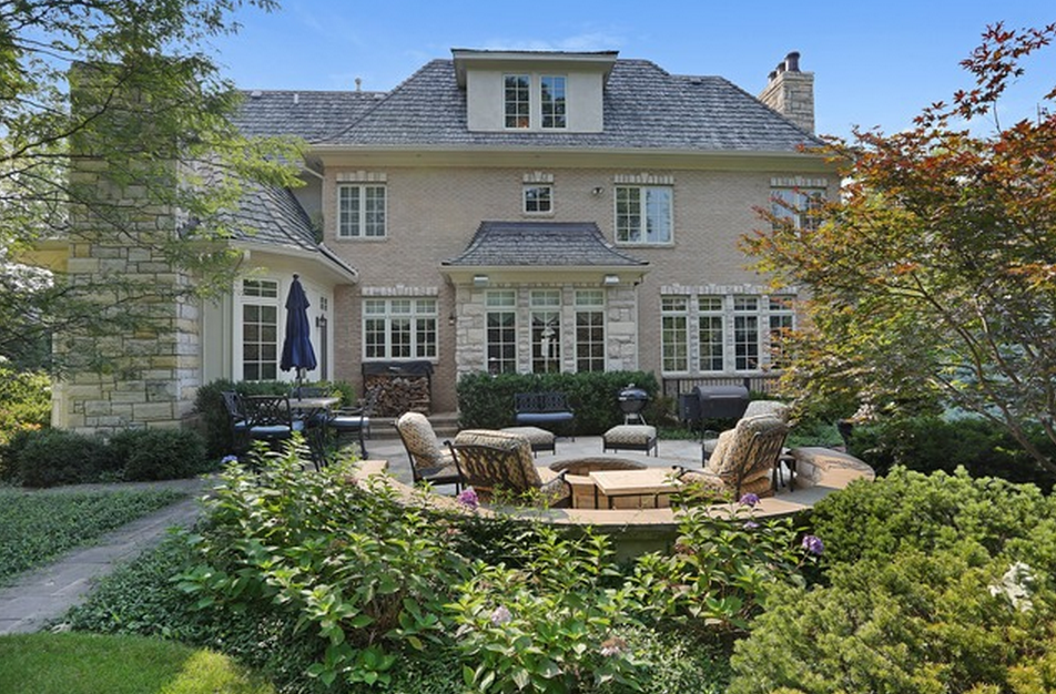 Million French Inspired Stone Home In Oak Brook IL Homes Of The Rich