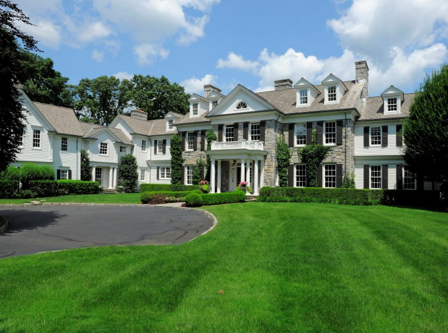 14000 Square Foot Georgian Colonial Mansion In Greenwich Ct on Modern 2 Story Colonial House Plans