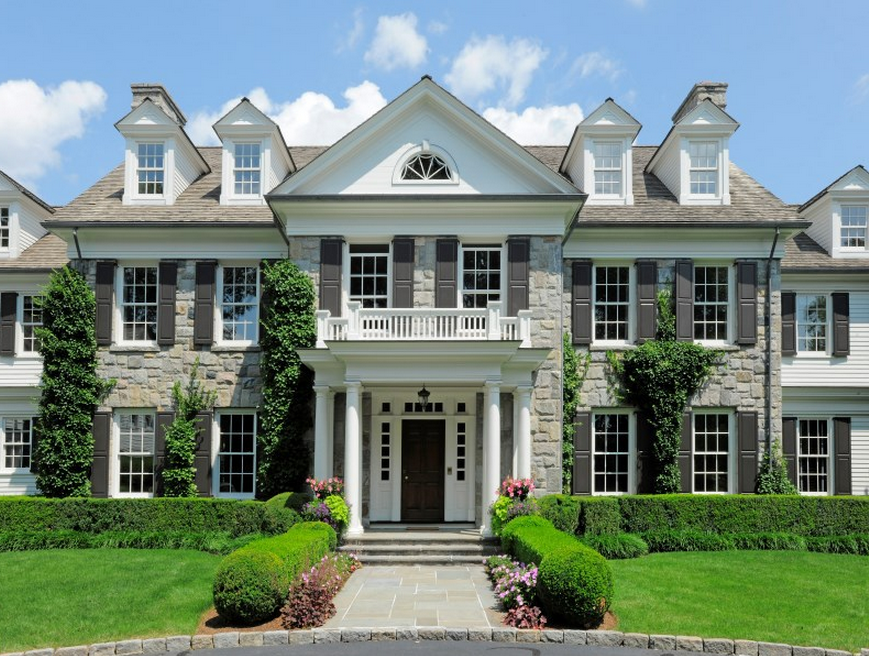14 000 square foot georgian colonial mansion in greenwich for Georgia house plans